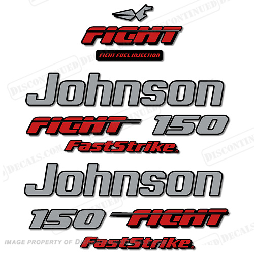 Decal Reproductions in Stock Johnson 1991-1996 175hp FastStrike V6 Decal Kit