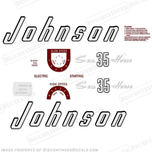 vintage johnson decals  1930