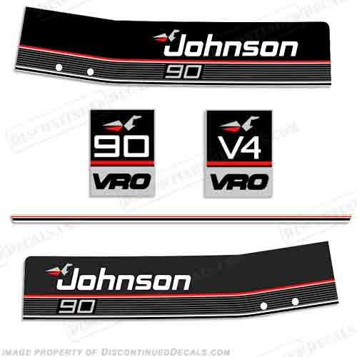 EVINRUDE 90 hp VRO OUTBOARD DECALS