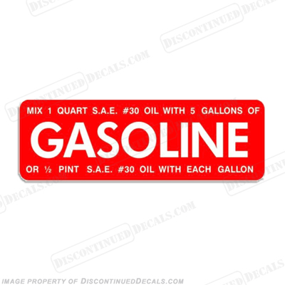 Johnson 1951-1952 4 Gasoline Decal