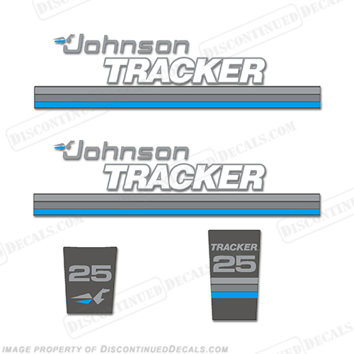 Johnson Tracker 25hp Decal Kit - Blue