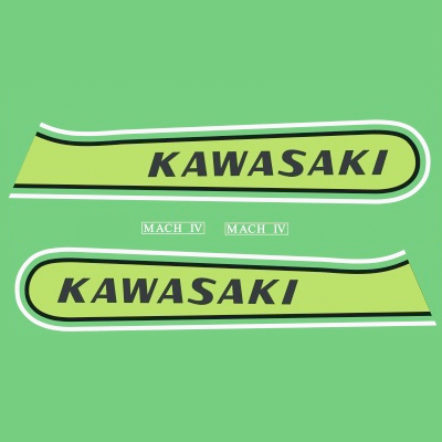 Kawasaki H2B 750 Decal Kit - 1974