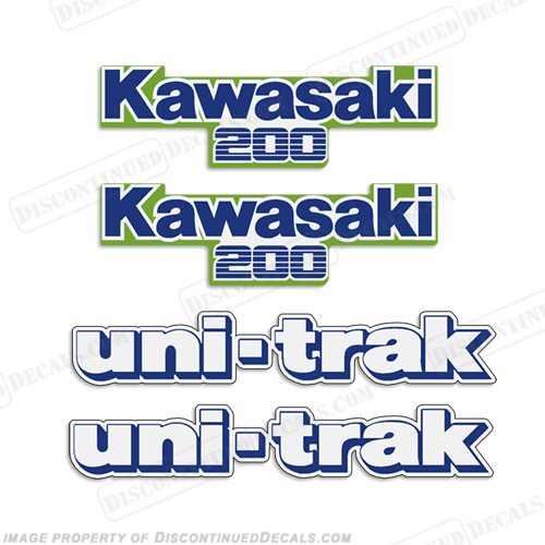 Kawasaki KDX 200 Decal Kit - 1987