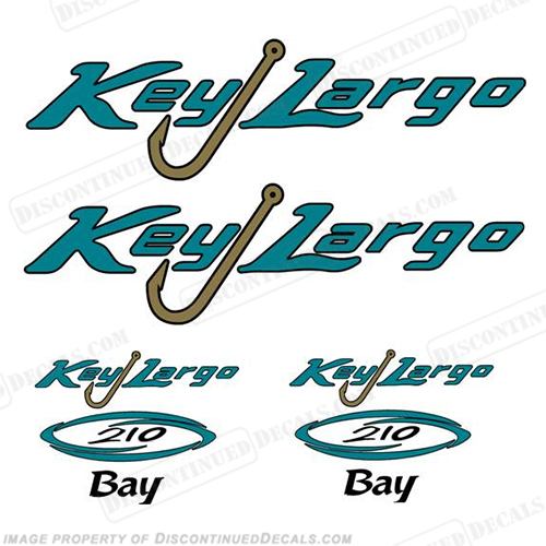 Key Largo 210 Bay Boat Decal Package