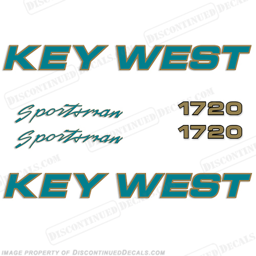 Key West Sportsman 1720 Boat Decals
