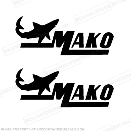 "Mako 22"" Boat Decals - (Set of 2) Any Color! - Style 1"