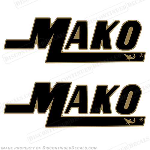 Mako Boat Logo Decals - 2 Color!