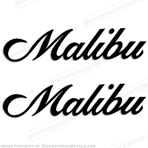 Malibu Boat Decals (Set of 2) - Any Color!