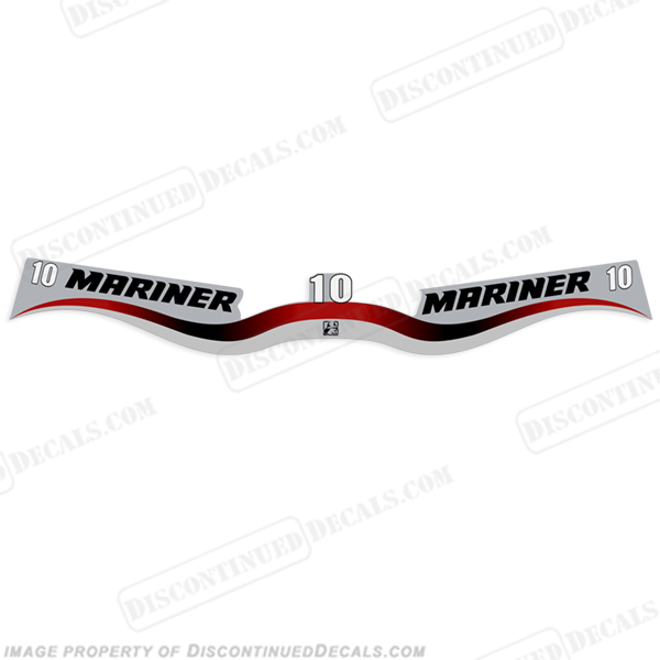 Mariner 10hp Decal Kit - Wrap Around