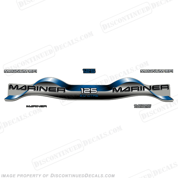 Mariner 125hp 2.0 Decal Kit - Blue