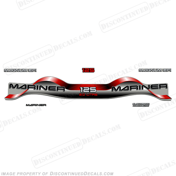 Mariner 125hp 2.0 Decal Kit - Red