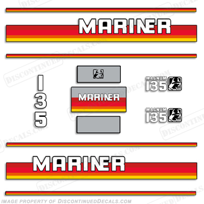 Mariner Magnum 135hp Decal Kit - 1990s