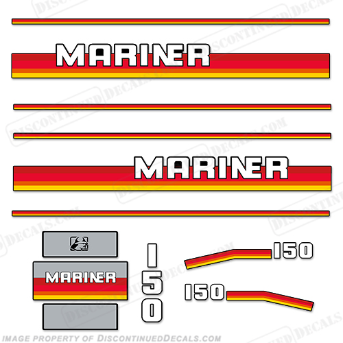 Mariner 150hp Decal Kit - 1990s