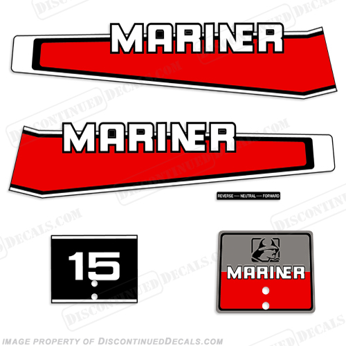 Mariner 1977-1989 15hp Decal Kit