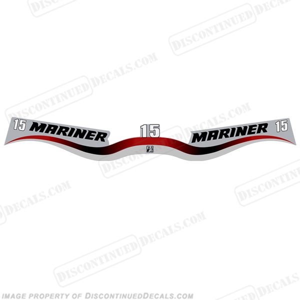 Mariner 15hp Decal Kit - Wrap Around