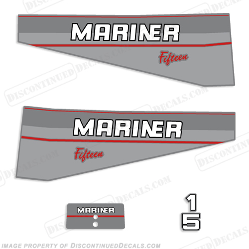 Mariner 15hp Decal Kit - 1997