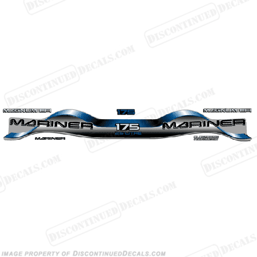Mariner 175hp 2.5 Decal Kit - Blue
