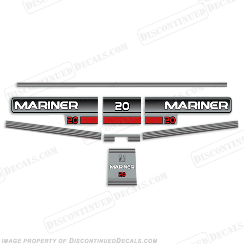 Mariner 1996 20hp Decal Kit