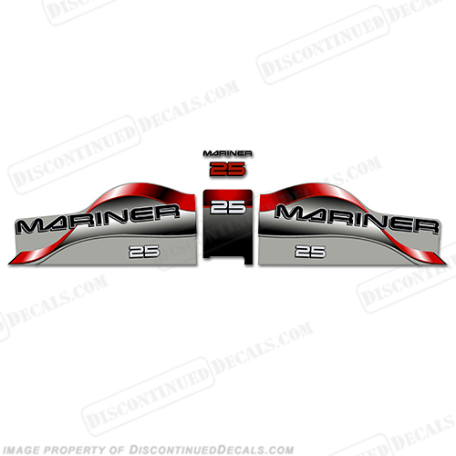Mariner 25 Decal Kit - Red