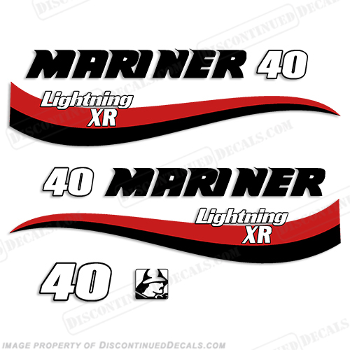 Mariner 40hp Lightning XR Decal Kit