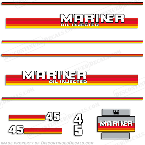 Mariner 1985 45hp Decal Kit