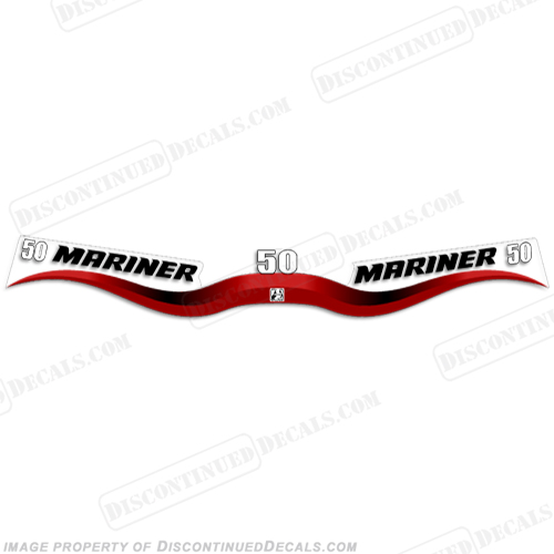 Mariner 50hp Decal Kit - Wrap Around