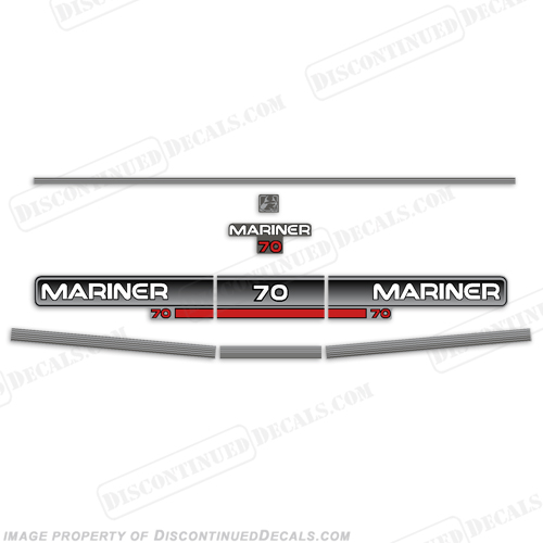 Mariner 1994 70hp Decal Kit