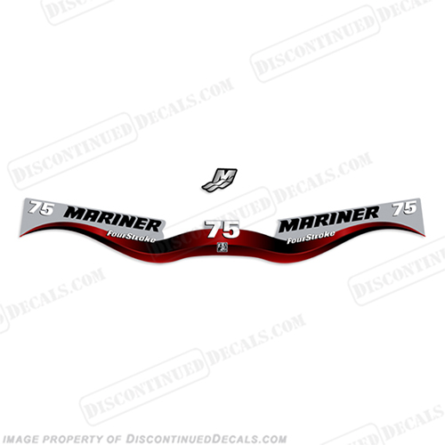 Mariner 75hp FourStroke Decal Kit 2002 - 2006 75 hp. big foot. big-foot
