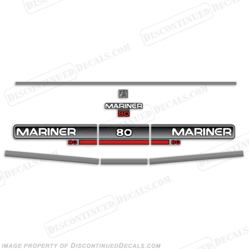 Mariner 1994 80hp Decal Kit