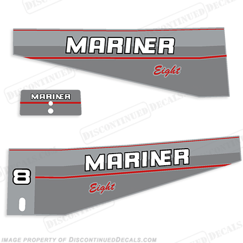 Mariner 1996 8hp Decal Kit