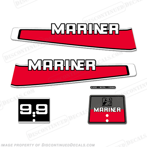 Mariner 1977-1989 9.9hp Decal Kit