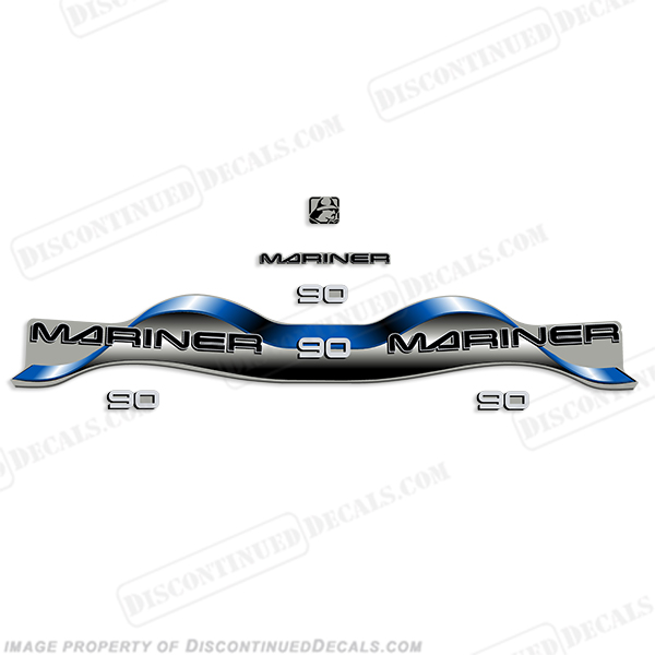 Mariner 90hp Decal Kit - Blue