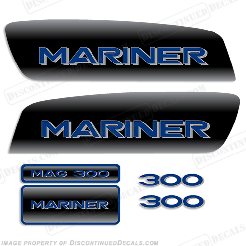 Mariner Mag 300 Decal Kit - Custom Color Black