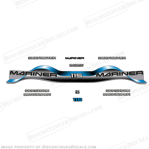 Mariner 115hp Decal Kit - Blue