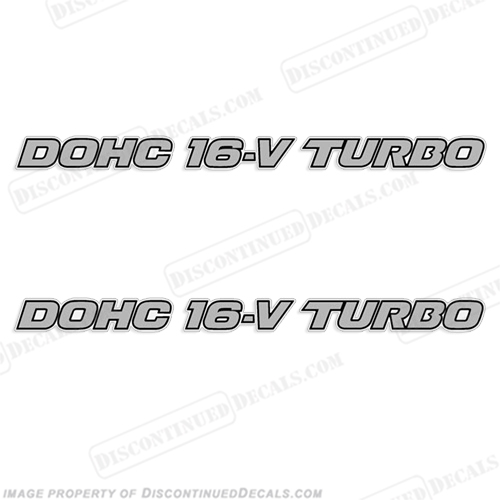 "Mazda ""DOHC 16-V TURBO"" Decals (Set of two)  16 v, 16v, d o h c, dohc 16v turbo"