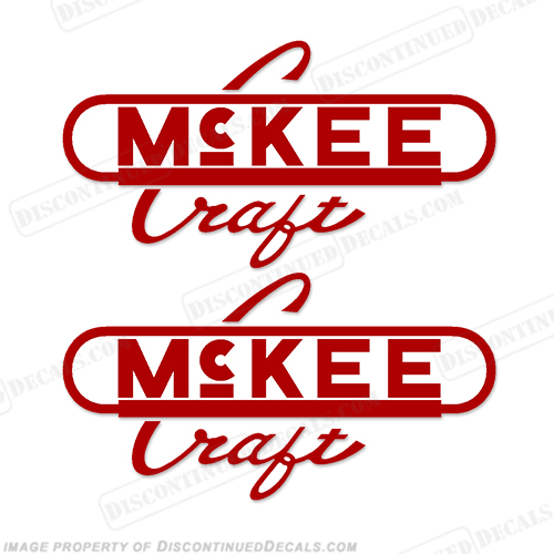 McKee Boats Logo Decal - Any Color! (Style 2) Set of 2