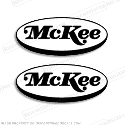 McKee Boats Logo Decal - Any Color! Set of Two