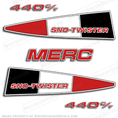 Mercury 440 Sno-Twister Decal Kit - Red