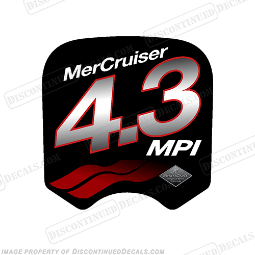 Mercruiser 4.3 MPi Decal  mercruiser, mer, cruiser, 43, 4, 3, mpi, engine, valve,