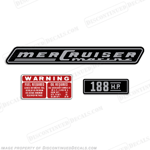 Mercruiser 188hp Decals - 1970