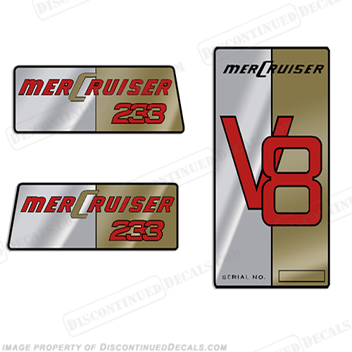 Mercruiser 233 Outdrive Decals - 1976