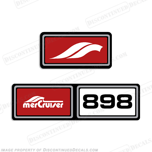 Mercruiser 898hp Valve Cover Decals 1977-1984