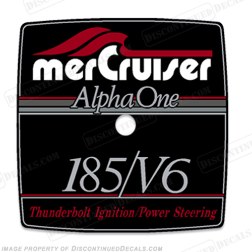 Mercruiser 185/V6 Alpha One Flame Arrestor Decal