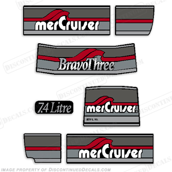 Mercruiser 1986-1998 Bravo Three Decals