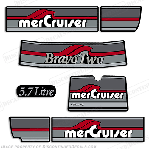 Mercruiser 1986-1998 Bravo Two 5.7 Liter Decals