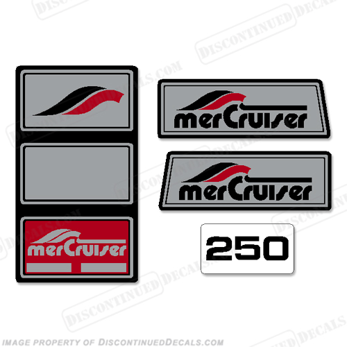 Mercruiser 1965 - 1983 250hp Pre-Alpha Stern Drive Decals