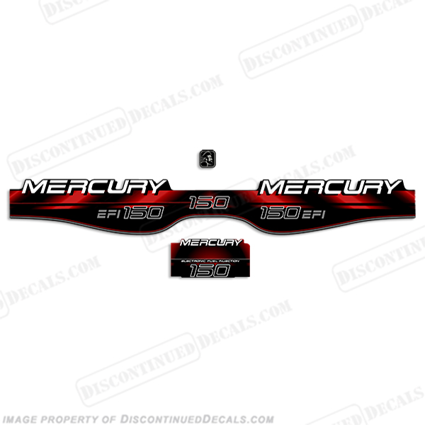 Mercury 150hp XR6 Series Outboard Decal Kit 1999-2004 RED