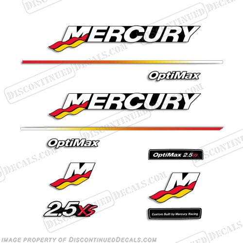 Mercury 200HP Pro XB Limited Edition outboard engine decal sticker set kit RED