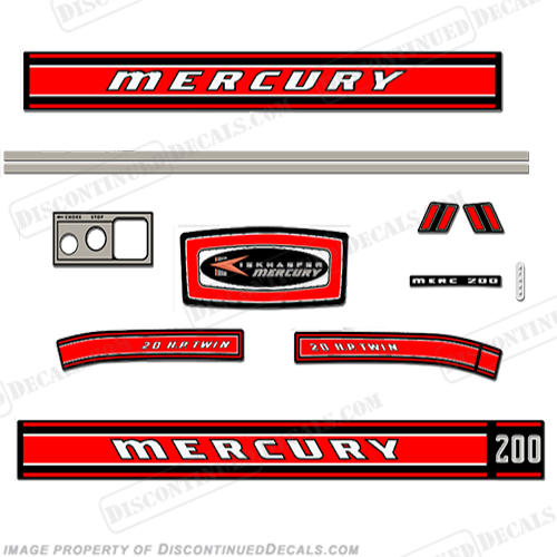 mercury 3.9 outboard decals