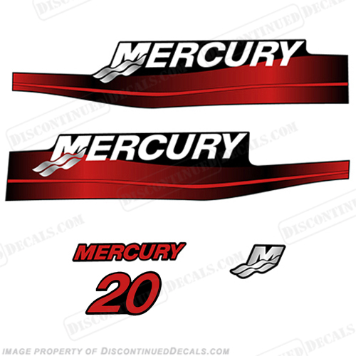 Mercury 65hp Jet Drive Two Stroke Outboard Decal Kit Blue or Red